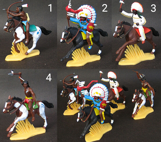 Indios guerreros a caballo